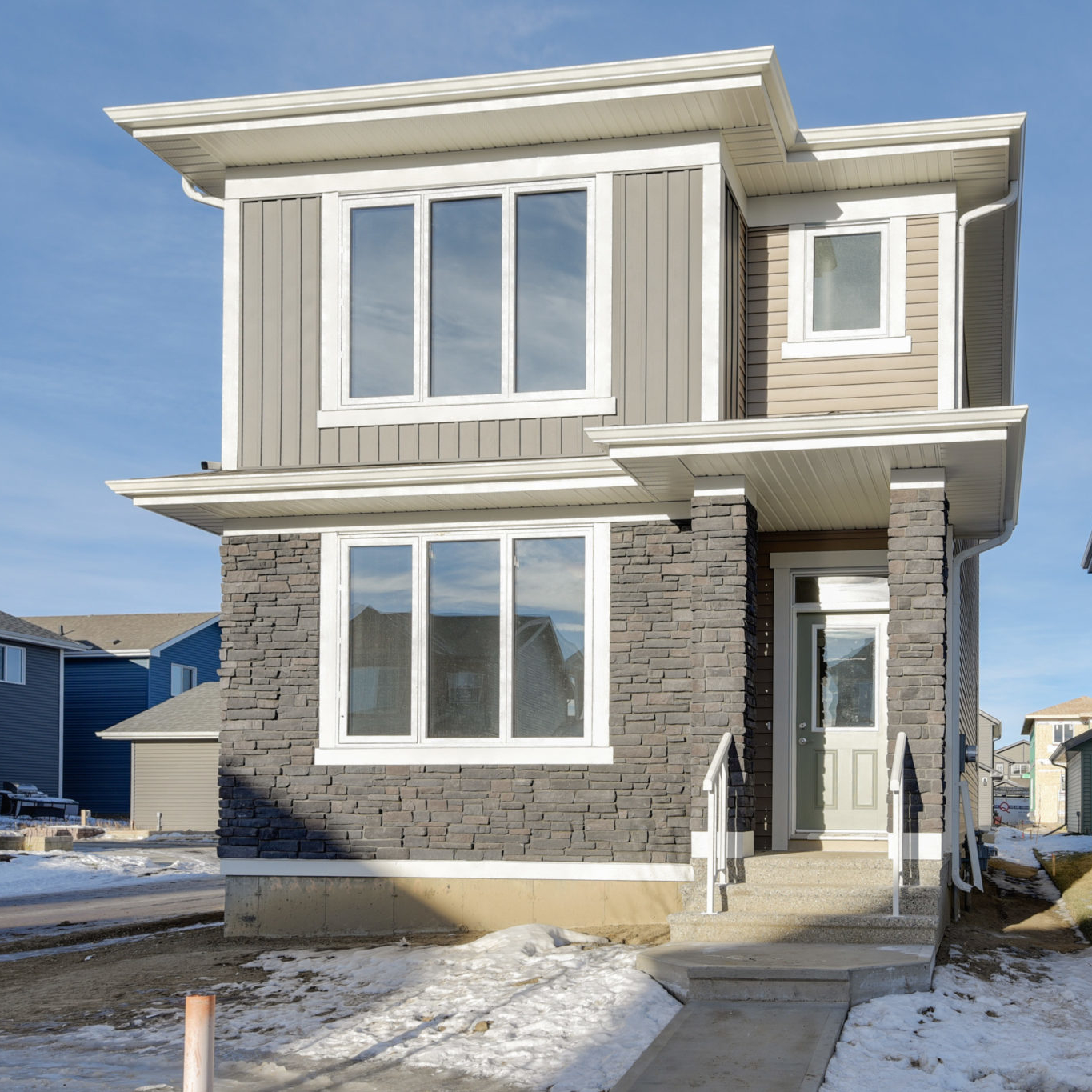 One of many home styles located in West Haven Park in Leduc