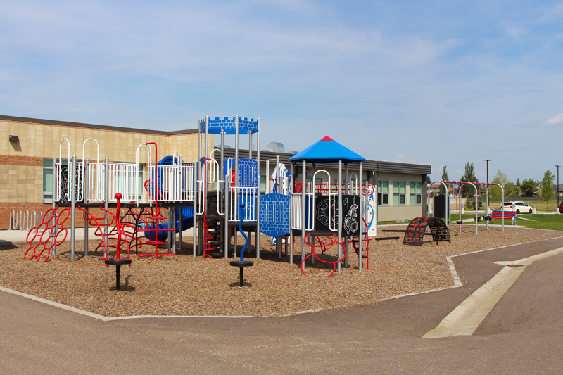 The playground at West Haven School in Leduc. Move to the City of Leduc and discover life here.