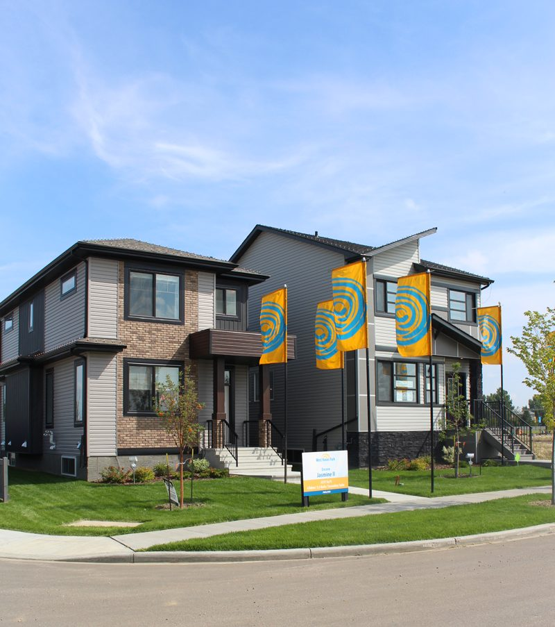 One of the showhome parades located in West Haven Park in Leduc